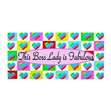 #1 Boss Lady Beach Towel