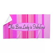 Pink Boss Lady Beach Towel