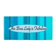 Blue Boss Lady Beach Towel