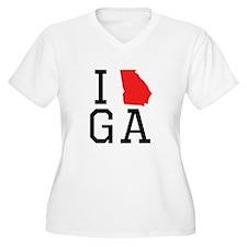 I Heart Georgia Plus Size T-Shirt
