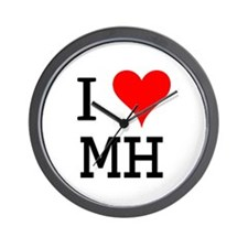 I Love MH Wall Clock