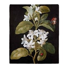 Pear Flower Throw Blanket