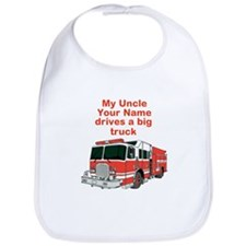 My Uncle (Your Name) Drives A Big Truck Bib