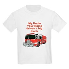 My Uncle (Your Name) Drives A Big Truck T-Shirt