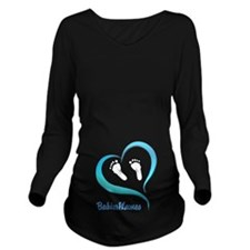 Heart Baby prints B Long Sleeve Maternity T-Shirt