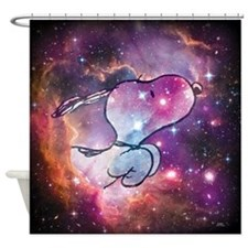 Snoopy Space 2 Shower Curtain
