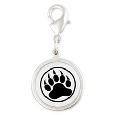 Classic Black bear claw inside a black ring Charms