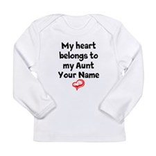 My Heart Belongs To My Aunt (Your Name) Long Sleev