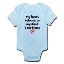 My Heart Belongs To My Aunt (Your Name) Body Suit