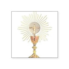 "Funny Eucharist Square Sticker 3"" x 3"""