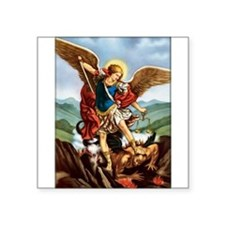 "Cute Saint michael Square Sticker 3"" x 3"""