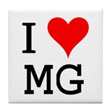I Love MG Tile Coaster