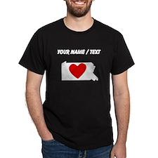 Custom Pennsylvania Heart T-Shirt