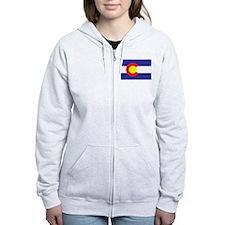 Colorado State Flag Zip Hoodie