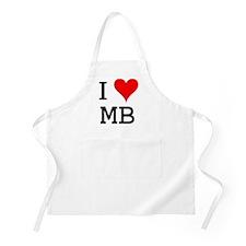 I Love MB BBQ Apron
