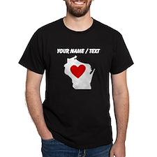Custom Wisconsin Heart T-Shirt