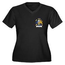 Franklin Women's Plus Size V-Neck Dark T-Shirt