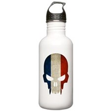 Netherlands Flag Skull Sports Water Bottle