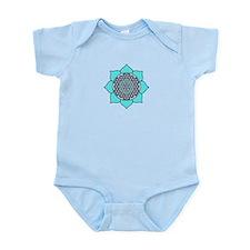 Lotus Blue2 Infant Bodysuit