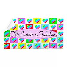 Cashier Hearts Beach Towel