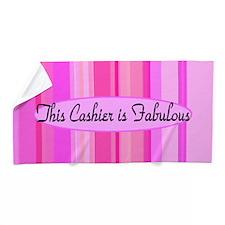 Pink Cashier Beach Towel