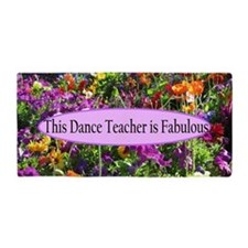 Floral Dance Teacher Beach Towel