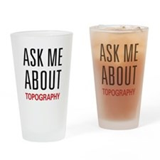 Ask Me About Topography Pint Glass