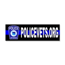 Cute Retired police Car Magnet 10 x 3
