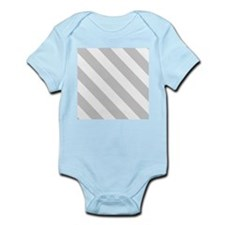 Grey Diagonal Stripes Body Suit