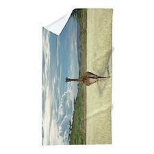 African Giraffe Beach Towel