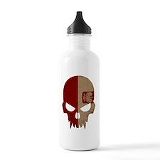 Polish Flag Skull Sports Water Bottle