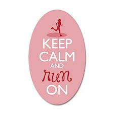 Keep Calm And Run On Wall Decal