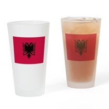 albanian flag Drinking Glass