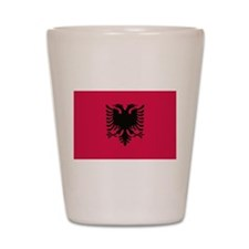albanian flag Shot Glass