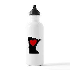 Minnesota Heart Water Bottle