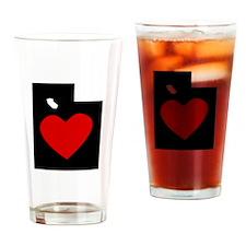 Utah Heart Drinking Glass