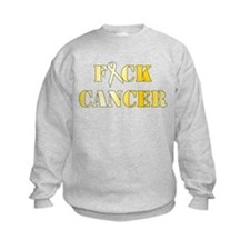 F*ck Cancer Gold Sweatshirt
