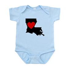 Louisiana Heart Body Suit
