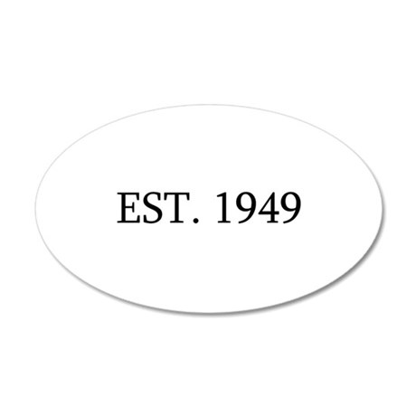 Est 1949 Wall Sticker