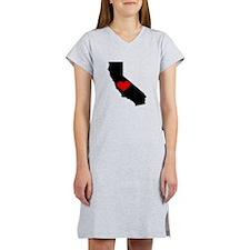 California Heart Women's Nightshirt
