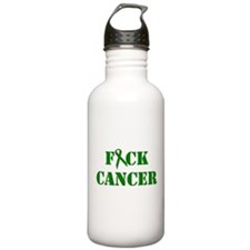 F*ck Cancer Green Water Bottle