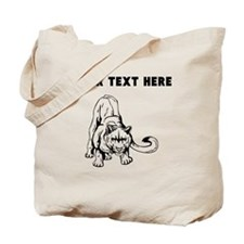 Custom Crouching Cougar Tote Bag