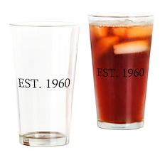 Est 1960 Drinking Glass