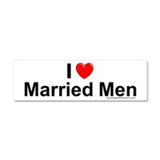 Married Men Car Magnet 10 x 3