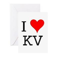 I Love KV Greeting Cards (Pk of 10)