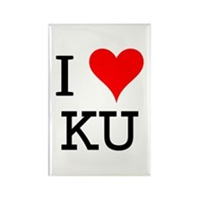 I Love KU Rectangle Magnet
