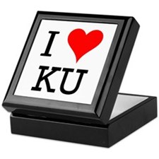 I Love KU Keepsake Box