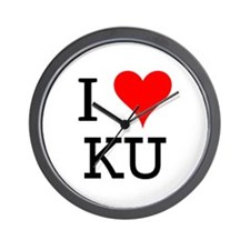 I Love KU Wall Clock