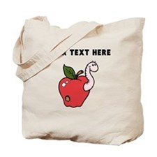 Custom Worm In Apple Tote Bag