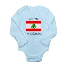 Kiss Me Im Lebanese Body Suit